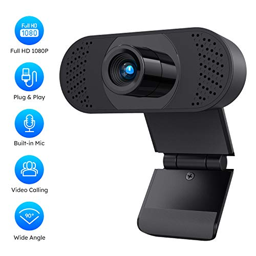 (Fulfilled by Amazon) 1080P FHD Webcam with Sony Sensor, Noise Reduction Microphone, PC Laptop Desktop USB Webcams, Streaming Computer Camera for Video Calling, Conferencing, Gaming (1080P. FHD)