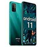Unlocked Smartphones Ulefone Note 11P (2021) Android 11 Unlocked Cell phones, 48MP Quad Rear Camera Triple Card Slots, 6.55' Punch Hole Screen Dual SIM Phones, 4500mAh Global Bands, US Version - Green
