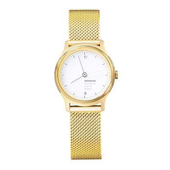 Mondaine Helvetica Light, Elegant Gold Stainless Steel Quartz Watch for Women, MH1.L1111.SM, 26 MM