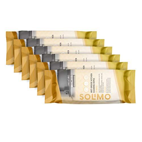 Amazon Marke -Solimo Fettlöse-Reinigungstücher - 120 Reinigungstücher,...