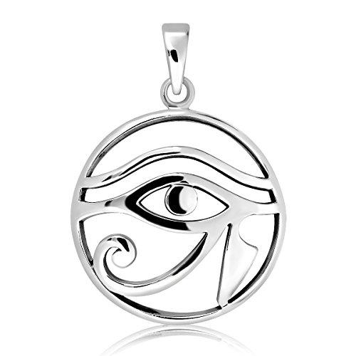 Colgante Ojo de Horus en Plata 925m de protección