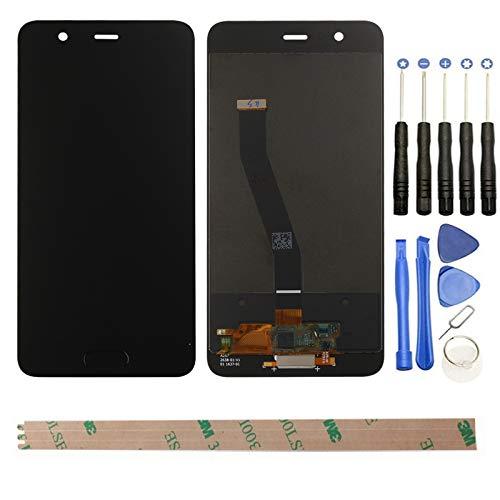 HYYT Reparatur und Ersatz LCD Display + Touchscreen Digitizer für Huawei P10 mit Frei Werkzeuge (Schwarz)