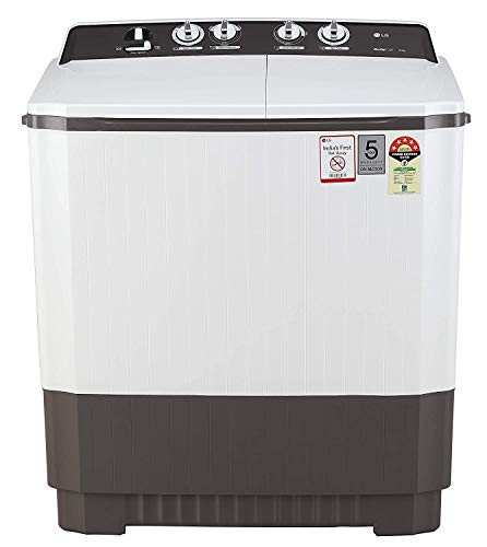 LG 9 kg 5 Star Semi-Automatic Top Loading Washing Machine (P9040RGAZ, Grey, Lint collector)