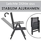 ArtLife Aluminium Gartengarnitur Milano Gartenmöbel Set mit Tisch und 6 Stühlen - 6