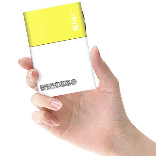 Mini Proyector Porttil Mvil- Artlii Mobile Projector LED, Recargable,...