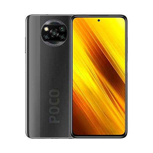 POCO X3 NFC - Smartphone 6 + 128 GB, 6,67 Zoll FHD+ Punch-hole Display, Snapdragon 732G, 64 MP AI Quad-Kamera, 5.160 mAh, Shadow Gray (Offizielle Version + 2 Jahre Garantie)