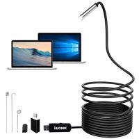 IWOBAC Semi-Rigid USB Endoscope, 2.0 Megapixels HD 8.5mm Waterproof...