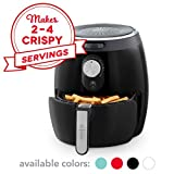 DASH DMAF355GBBK02 Deluxe Electric Air Fryer + Oven Cooker with Temperature Control, Non Stick Fry Basket, Recipe Guide + Auto Shut off Feature, 3qt, Black