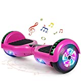 FLYING-ANT Hoverboard with Bluetooth, Self Balancing Electric Scooter 6.5' Two-Wheel Hover Boards with LED Lights for Kids and Adult-A02B-Purple
