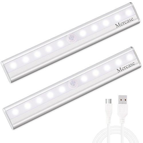 Luce Notte Led con Sensore,Ricaricabile Usb Luce LED Sensore di Movimento con Striscia Magnetica...
