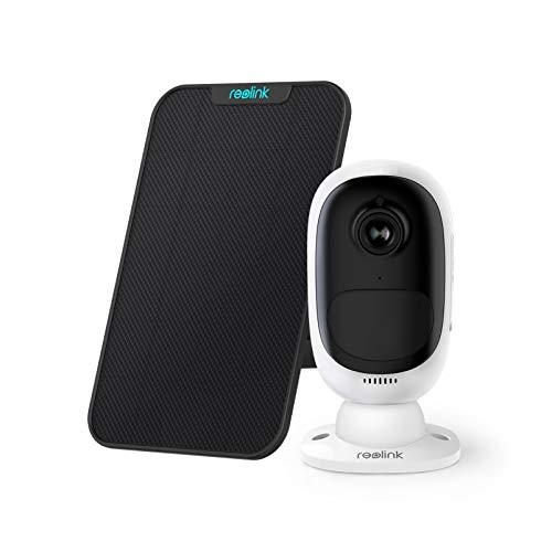 Reolink Telecamera WiFi Esterno a Batteria Ricaricabile o a Energia Solare, 1080P Visione Notturna Starlight, Rilevamento PIR, Audio a due Vie, con Slot di Scheda Micro SD, Argus 2 con Pannello Solare