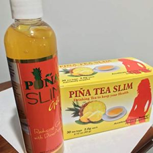 Kit Piña Slim Reducing Gel with Pineapple 8 oz & Piña Drinking Tea Slim (Aceelerate Calories Burning) Dietary Supplement. 12 - My Weight Loss Today