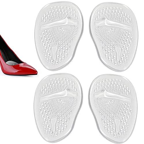 Almohadillas del Antepié 2 pares (4 piezas) Plantillas de Zapatos con Tacón Alto Proteger los Pies, Medio plantilla para Alivio el Dolor en el Antepié