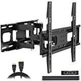 Full Motion TV Wall Mount with Height Setting, JUSTSTONE TV Bracket Fits Most 27-65 Inch LED...