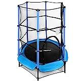 HyperMotion Tappeto elastico per bambini, 4,5 Ft/140 cm, per interni o esterni, 3+, trampolino da giardino con attrezzatura di sicurezza, regalo per ragazzi e ragazze, giocattolo, fino a 45 kg
