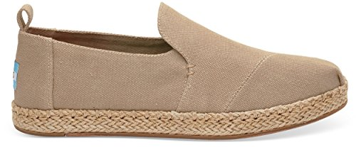TOMS Women's Deconstructed Alpargata Desert Taupe Washed Canvas 5.5 B US