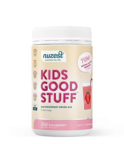 Nuzest Kids Good Stuff - Multivitamin Drink, Wild Strawberry, 15 Servings, 7.9 oz 1