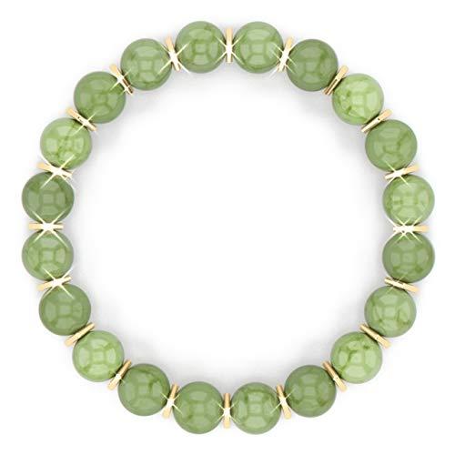 [Healing Trust] Green Jade Bracelet for Men Women...