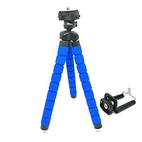 Tripé Flexível Almofadado para Fotografia com Clipe Ajustável para Smartphone/Azul