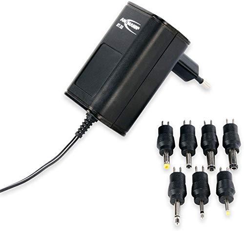 ANSMANN Alimentatore universale 7 spinotti APS 300 3-12V - Caricatore per dispositivi elettronici connettori intercambiabili 300mA tensione regolabile