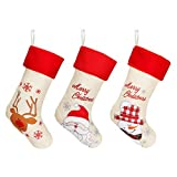 E-More Bas de Noël 3pcs Chaussettes Bas de Noël Mignons,Père Noël...