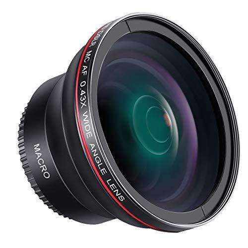 Neewer Obiettivo Grandangolare con Lente Macro Close-up 52mm 0,43X a Definizione Alta Nessun Distorsione per Reflex Digitali Nikon D7100 D7000 D5200 D5100 D5000 D3300 D3200 D3000 D90 D80
