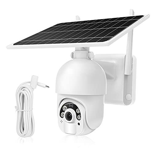 MPW Cámara Vigilancia WiFi Exterior Solar,14400mAh Batería...
