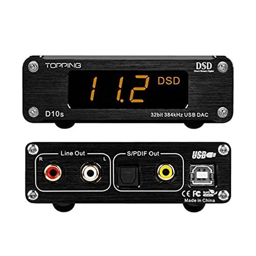 TOPPING D10s DAC Mini USB DAC XMOS XU208 ES9038Q2M DSD256 PCM 384kHz Hi-Res オーディオデスクトップ ...