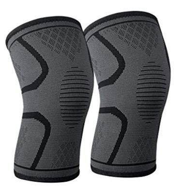 SPARSH 4.0 Knee Support, One Pair, Supreme Quality, for Fitness, Gym, Running, Crossfit, Football, Meniscus Tear, Arthritis, Quick Recovery, Grey-Black Color (Medium= 50-70 kgs)