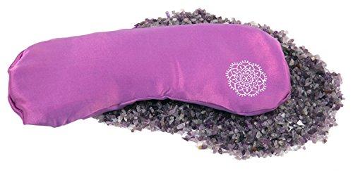 INNER JEWELS MEDITATION, Weiches Augenkissen, Feine Seide mit Halbedelsteinen, orchidee-lila, Amethyst-Lavendel-Füllung für Yoga, Entspannung & Meditation