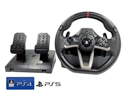 Volant et pédales PS4 PS5 Original avec Licence Sony Playstation RWA Apex INCL. Multi Vibration TouchSense® (PS4,PS5,PS3,PC)