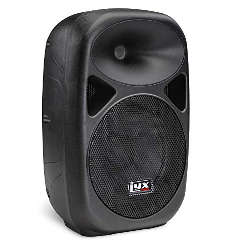 LyxPro SPA-8 Compact 8' Portable PA System 100-Watt RMS Power Active Speaker System Equalizer Bluetooth SD Slot USB MP3 XLR 1/4' 1/8' 3.5mm Inputs