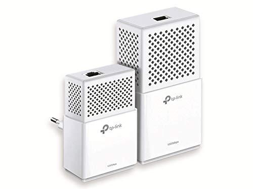 TP-Link TL-WPA7510-KIT (DE) AV1000 WLAN, AC750 (bis zu 300 Mbit/s auf 2,4 GHz und 433 Mbit/s auf 5 GHz) Gigabit Powerline Netzwerkadapter Set (2 Gigabit Port, ideal für HDTV, deutsche Version) weiß