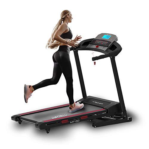 TechFit MT150 Tapis Roulant Professionale, Autolubrificazione, 4.0 HP, Fitness App, Superficie di...