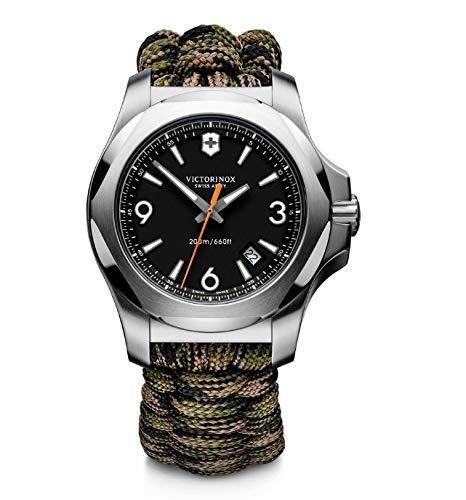 Victorinox Herren I.N.O.X. - Swiss Made Analog Quarz Edelstahl/Paracord Uhr 241894