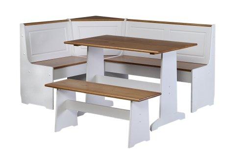 Linon Ardmore Kitchen Nook Set, White