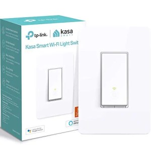 Kasa Smart HS200 Light Switch by TP-Link, Single Pole, Needs Neutral Wire, 2.4Ghz Wi-Fi Light Switch Works with Alexa…