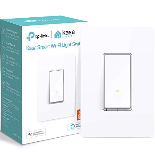 Kasa Smart Light Switch by TP-Link, Single Pole, Needs Neutral Wire, 2.4Ghz WiFi Light Switch Works with Alexa and Google Assistant, UL Certified, 1-Pack (HS200), White