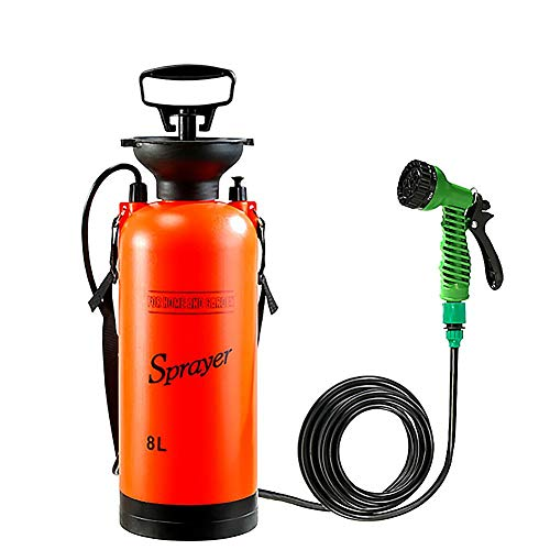 Magent Camping-Dusche Campingdusche Solardusche Tasche, 8L Tragbare Solar Gartendusche Außen Warmwasser Dusche Reisedusche Mit Thermometer, EIN/aus Schaltbarem Duschkopf