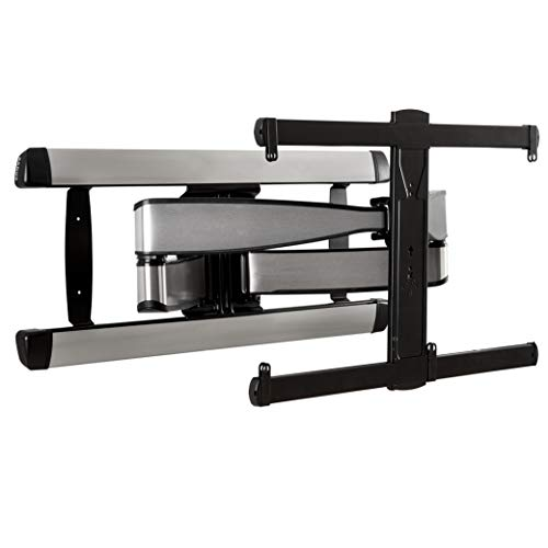Sanus Premium Full Motion TV Wall Mount for TVs Up to 90' - Stainless Steel Finish with FluidMotion Design for Smooth Extension, Tilt,