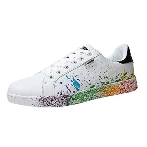 riou Zapatillas de Deportivos de Running para Mujer Zapatos Blancos Alpargatas Mujer cuña Fitness Casuales Aire Libre y Deporte Gimnasia Ligero Sneakers 35-46 (37, Negro)
