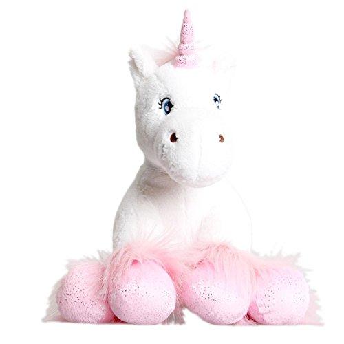 Blanco Unicornio con brillante Pezuñas Oso De Peluche 40.6cm (40cm) Construir Su Propia Materia Osito Kit Sin Costura