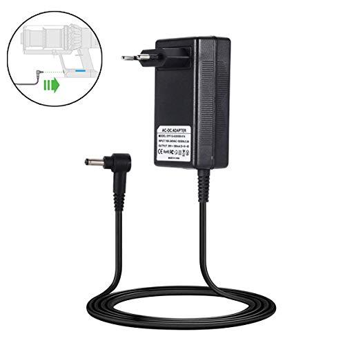 Queta Caricabatterie Alimentatore per Dyson V10 V11, Alimentatore Intelligente per Dyson V10 V11, Dyson Caricatore 30V / 1100 mA, Spina Standard Europea