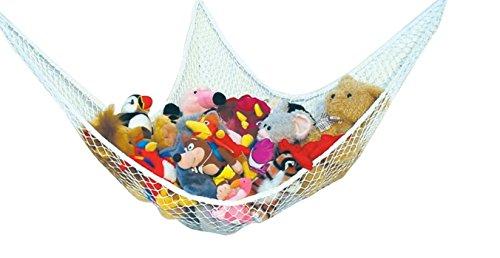 Speichernetz Spielzeug Hängematte Speichernetz für Kuscheltiere, Spielzeug Aufbewahrung geeignet für Kinderraum, Kinderspielzeug, Organisation & Hängender Organizer (weiß)