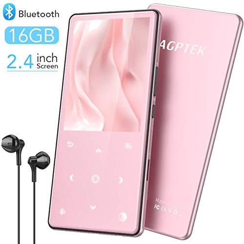 AGPTEK Lettore MP3 16 GB con Bluetooth 4.2, Lettore Musicale Audio Digitale Portatile Lossless Sound...