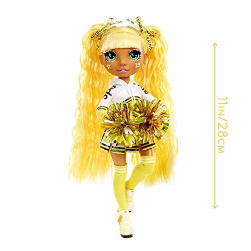 Image 2 - Rainbow High Poupée Mannequin Majorette. Vêtements élégants et pompons. Sunny Madison, Poupée Thème Jaune. Rainbow High série, cadeau parfait pour les filles de 6 ans et plus