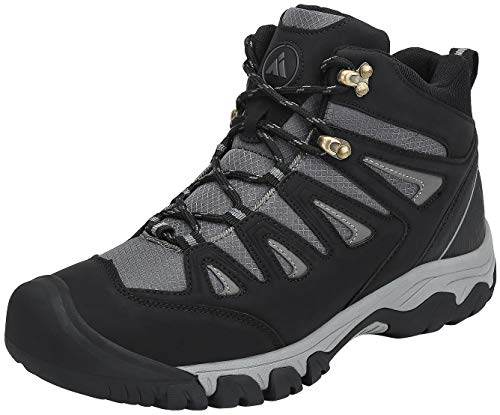 Mishansha Zapatillas Senderismo Hombre Trail Mount Botas Montaña Impermeables Zapatos Trekking Escalada Deportes de Exterior,Negro 42 EU