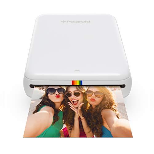 Polaroid ZIP Handydrucker mit ZINK Zero tintenfreier Drucktechnologie – Kompatibel mit iOS- & Androidgeräten - Weiß