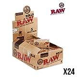 Unbekannt RAW Classic Slim Boîte de 24 Rouleaux de Papier Jaune M 5 m