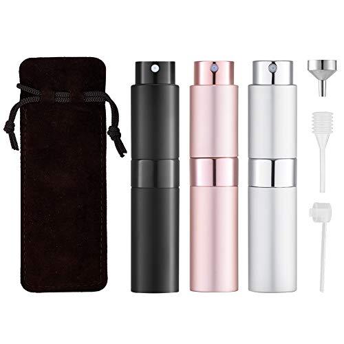 Toureal 8ML Flacon Parfum Vide (3 Pièces, Boîte cadeau) Mini Vaporisateur...